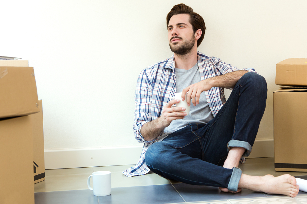 Man sitting with coffe cup